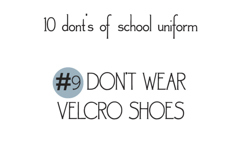 10 donts of school uniforms no9 shoes