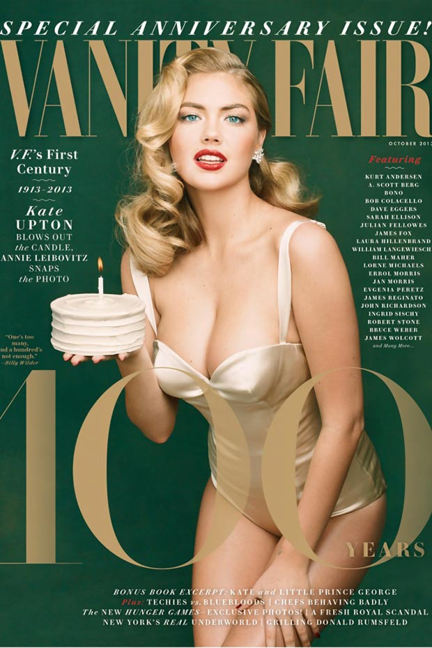 100 anniversary Vanity Fair Kate Upton cover
