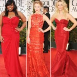 2012 Golden Globes red dresses Amber Riley Dianna Agron Reese Witherspoon