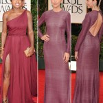 2012 Golden Globes bordeaux dresses Viola Davis Julianna Margulies