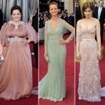 2012 Oscars soft dresses Melissa McCarthy Berenice Bejo Kate Mara