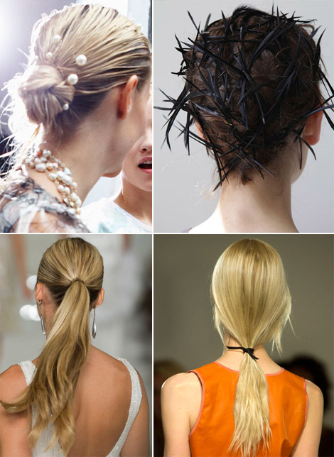 2012 hair trends updos pony tails
