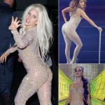 2012 stage costumes Lady Gaga Jennifer Lopez Katy Perry see through