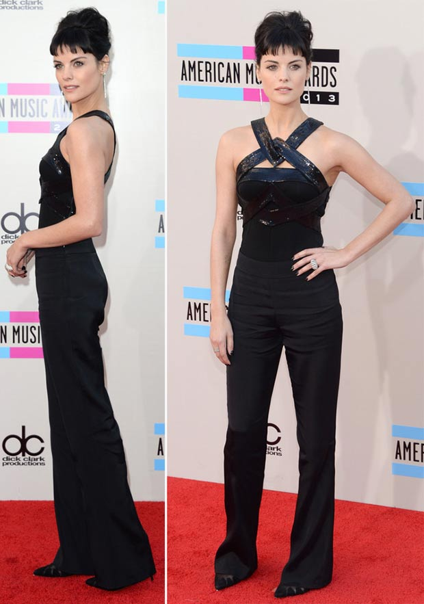 2013 AMAs Red carpet Jamie Alexander Armani black outfit