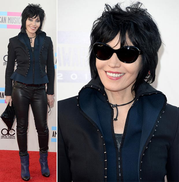 2013 AMAs Red carpet Joan Jett black outfit