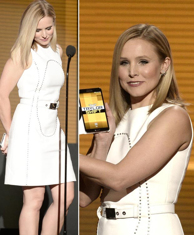 kristen bell wedding ring: 2013 AMAs Red Carpet Dresses: Black And White