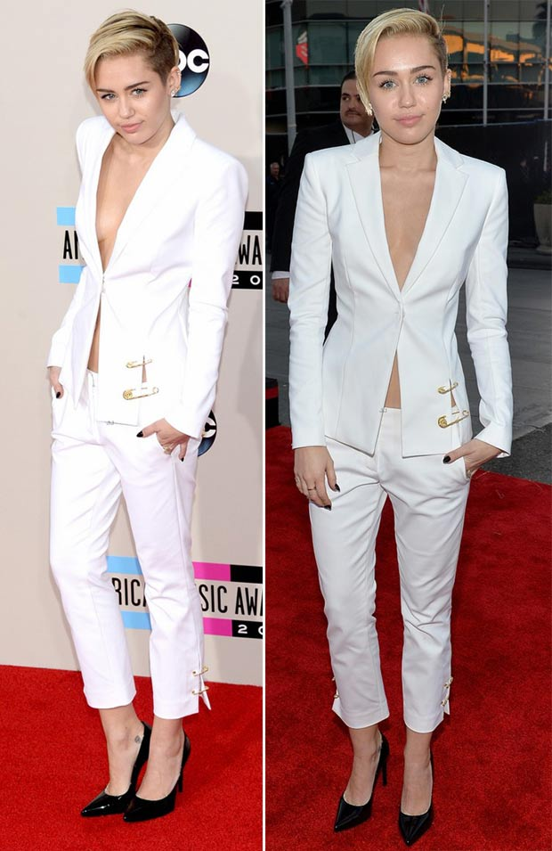 Miley Cyrus Red Carpet Dresses 2013 2013 Amas Red Carpet Miley