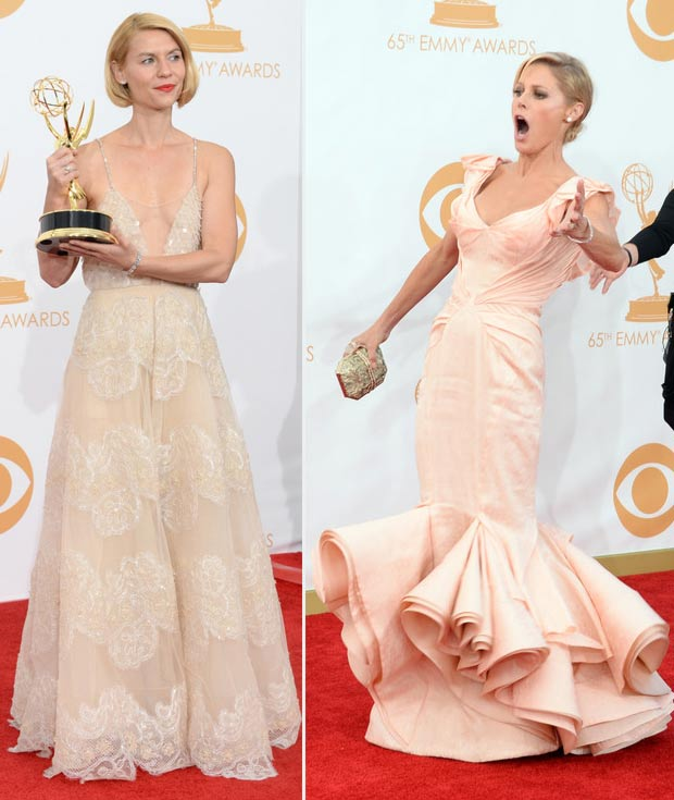 2013 Emmy Awards Claire Danes Julie Bowen butter dresses