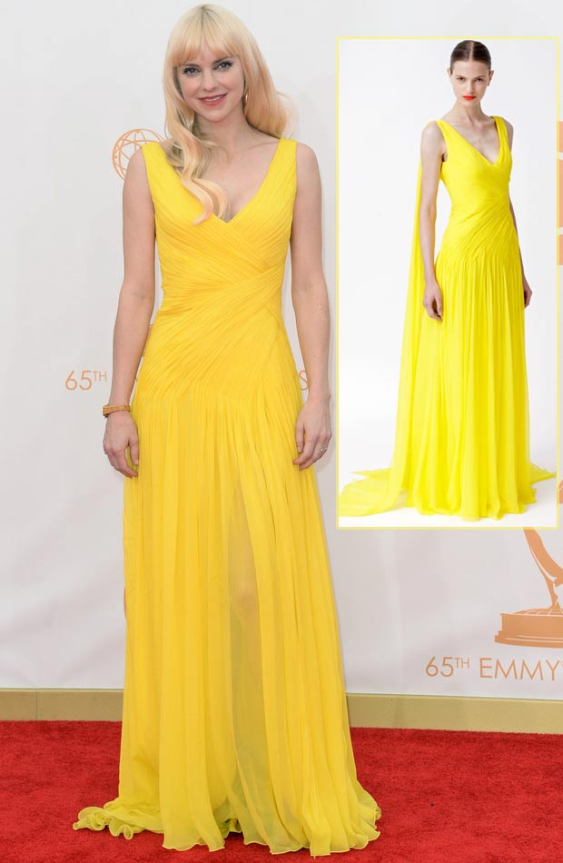 2013 Emmy Awards dresses Anna Faris yellow dress