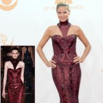 2013 Emmy Awards dresses Heidi Klum burgundy Versace