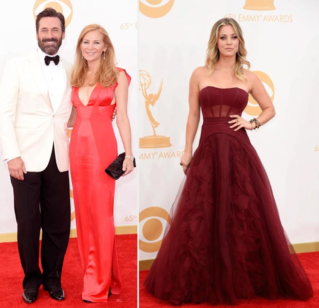 2013 Emmy Awards dresses Jennifer Westweld Kaley Cuoco