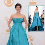 2013 Emmy Awards dresses Jessica Pare turquoise OdlR