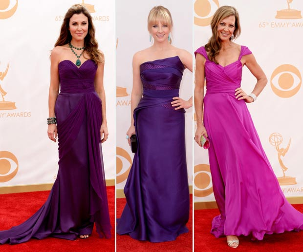 2013 Emmy Awards dresses Thea Andrews Melissa Rauch Allison Janney