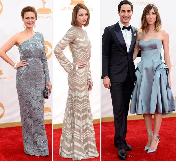 2013 Emmy Awards Red Carpet grey dresses