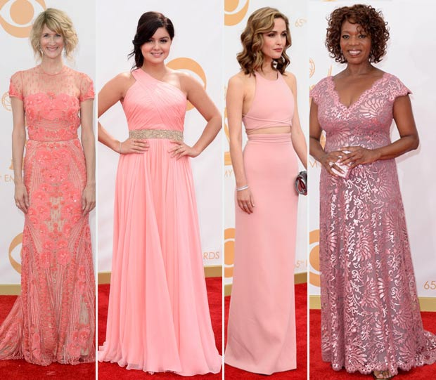 2013 Emmy Awards soft pink dresses
