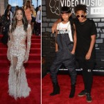 2013 MTV VMAs Red Carpet Ciara Willow Jaden Smith