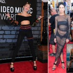 2013 MTV VMAs Red Carpet Miley Cyrus Erin Wasson