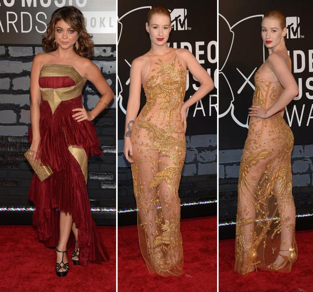 2013 MTV VMAs Red Carpet Sarah Hyland Iggy Azalea