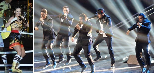 2013 MTV VMAs stage Katy Perry NSYNC performance