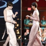 2013 Oscars fashion fail Anne Hathaway soft pink dress
