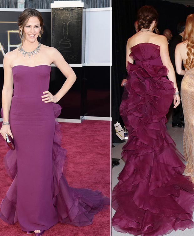 2013 Oscars fashion fail Jennifer Garner violet dress