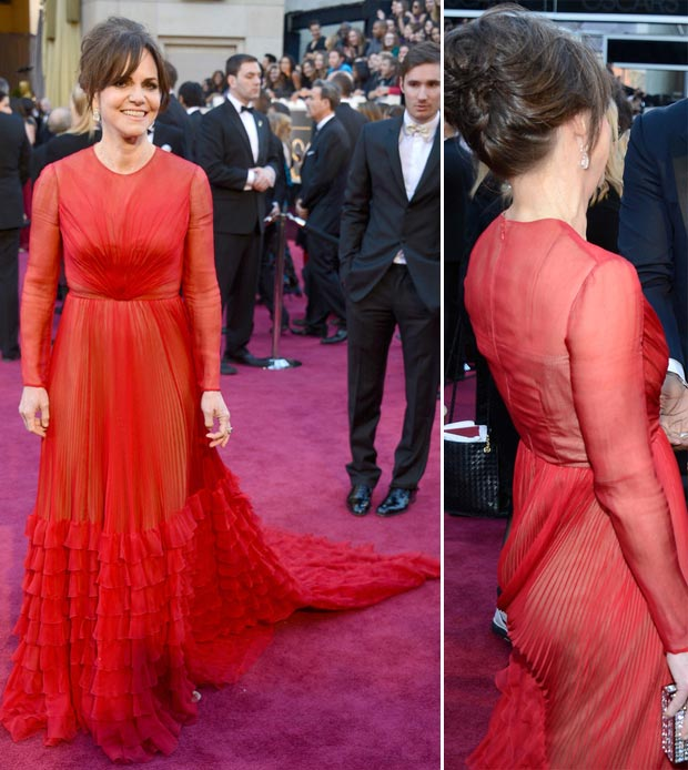 2013 Oscars Fashion Fail Sally Field Valentino red dress