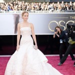 2013 Oscars fashion Jennifer Lawrence light pink Dior