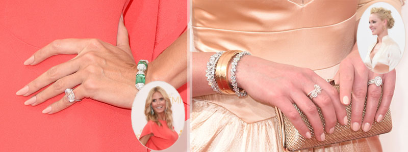 2014 Emmys nails Heidi Klum Katherine Heigl neutral nails