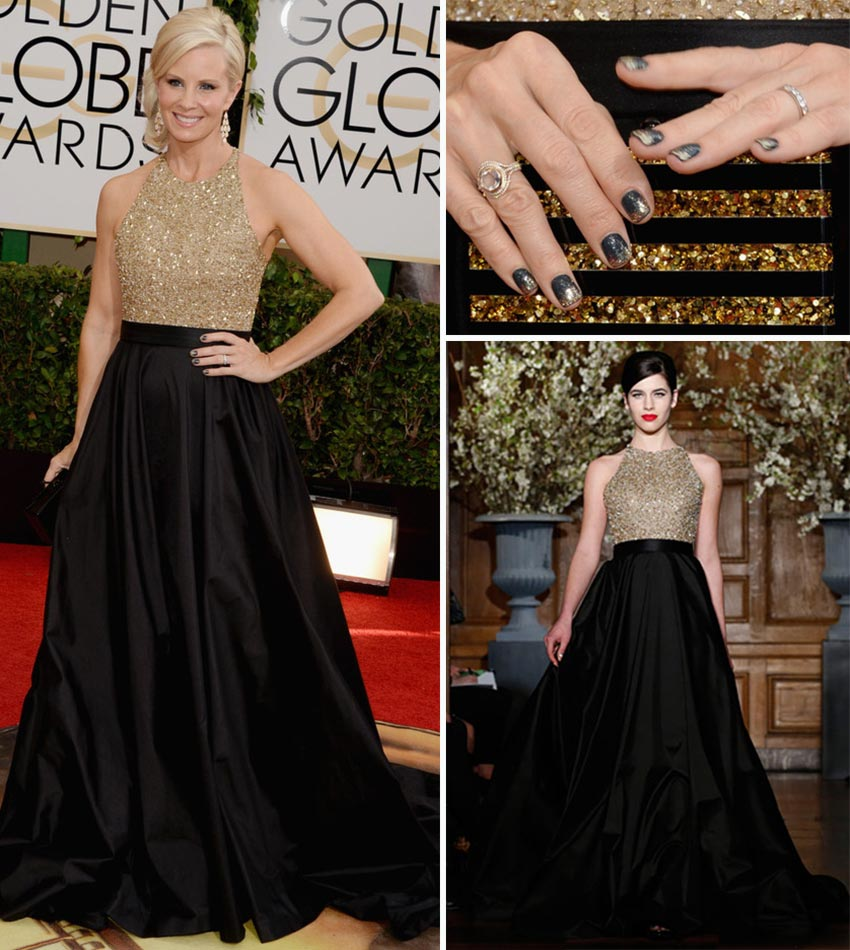 2014 Golden Globes nails Monica Potter Romona Keveza dress