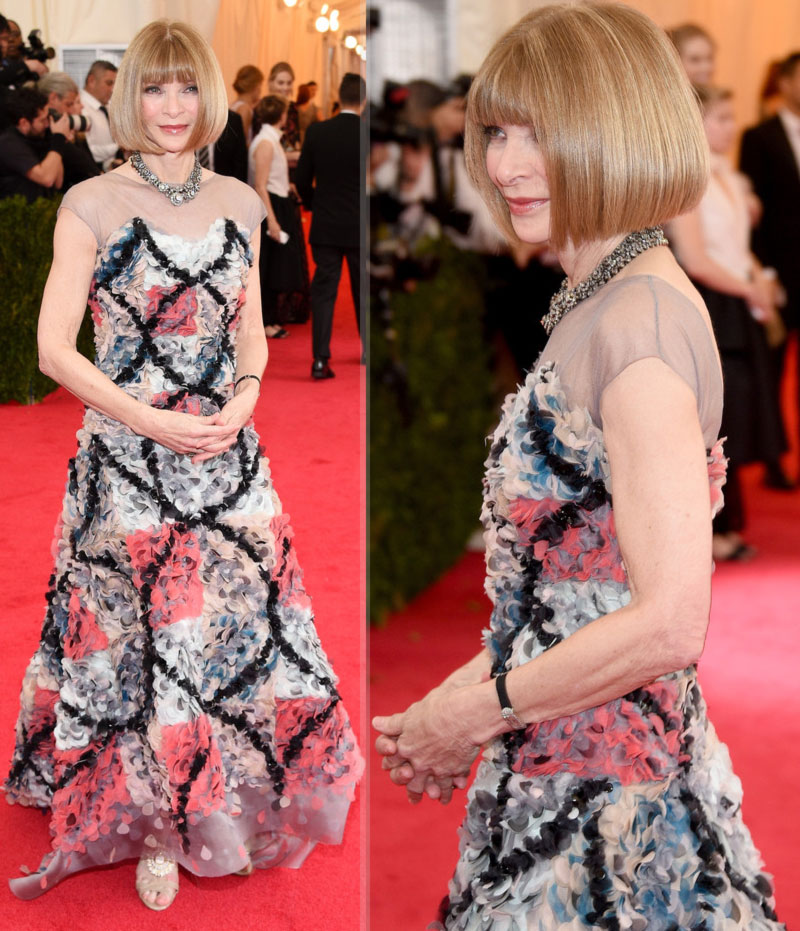 2014 Met Gala fashion Anna Wintour Chanel dress