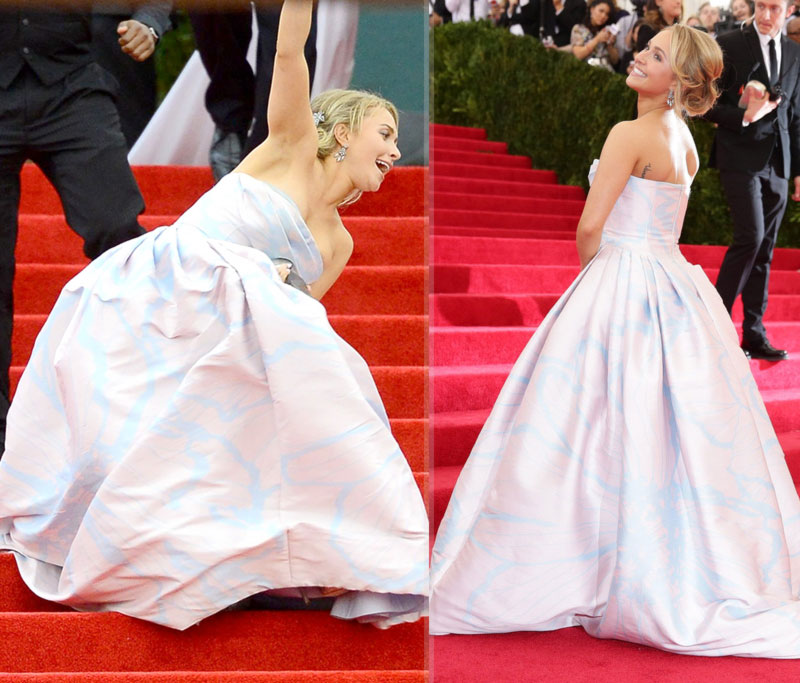 2014 Met Gala fashion disaster Hayden Panettiere fell down the stairs