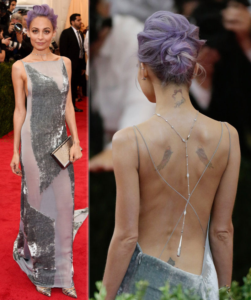 2014 Met Gala fashion disaster Nicole Richie grey Donna Karan Atelier