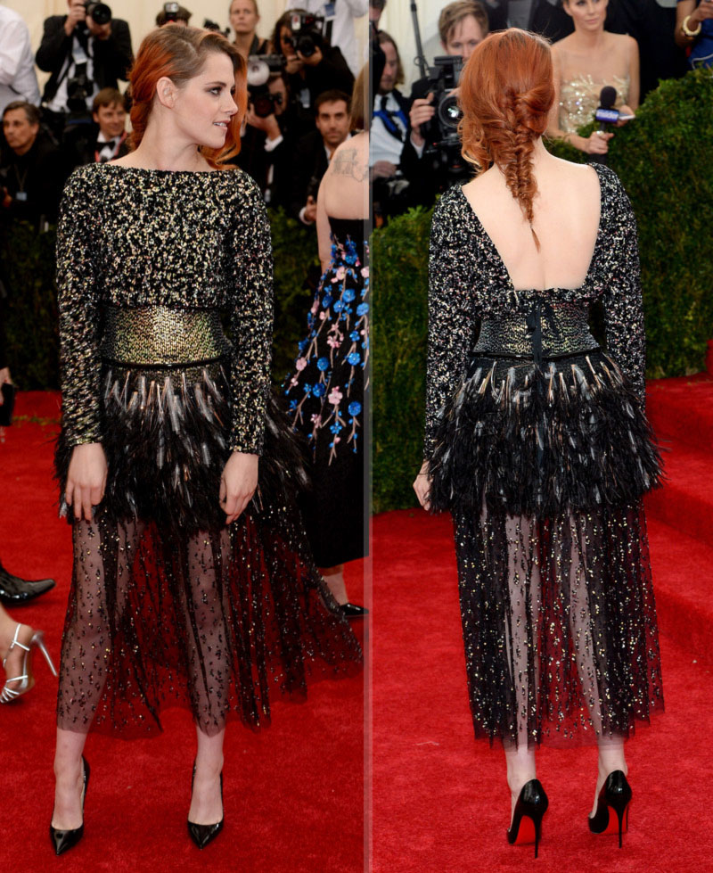 2014 Met Gala fashion Kristen Stewart Chanel dress
