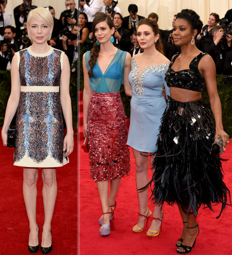 2014 Met Gala fashion short dresses