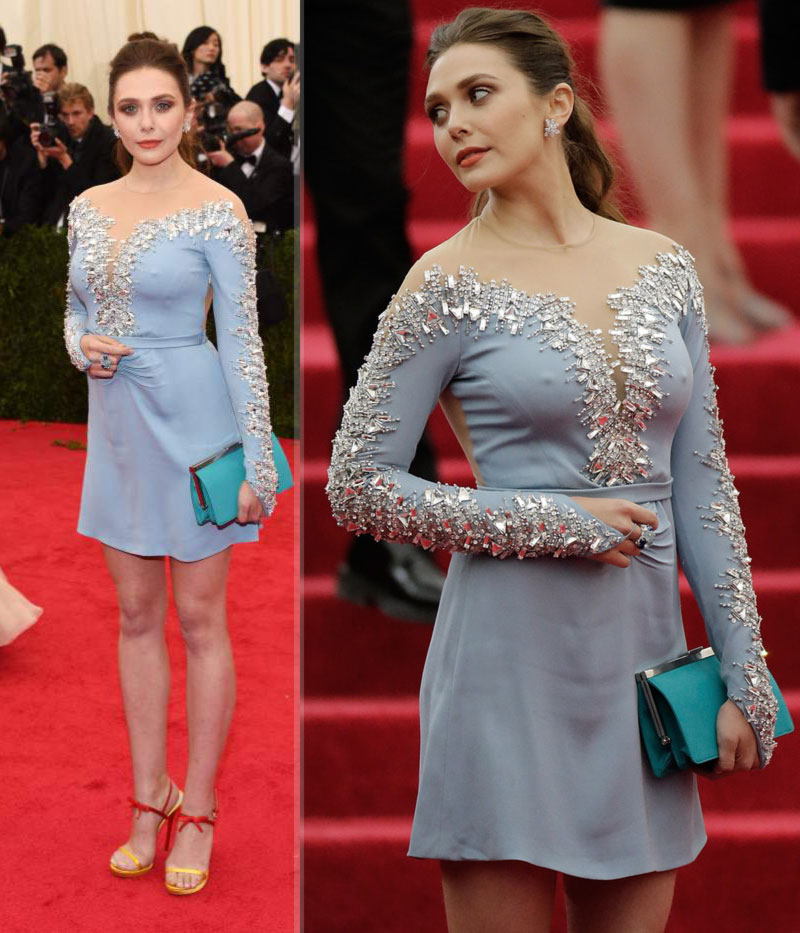 2014 Met Gala fashion wrongs Elizabeth Olsen Miu Miu dress