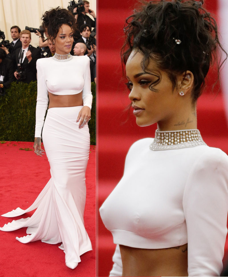 2014 Met Gala fashion wrongs Rihanna white Stella McCartney