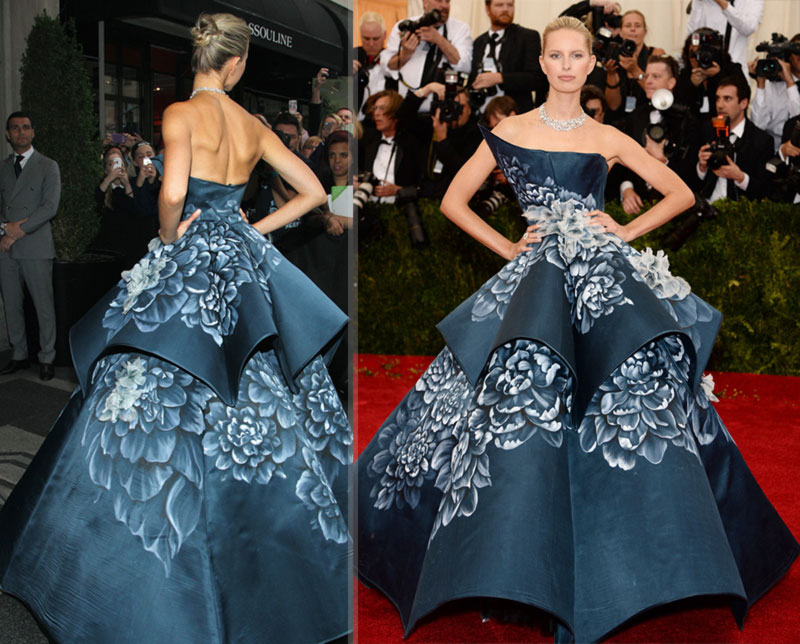 2014 Met Gala Karolina Kurkova fabulous Marchesa dress