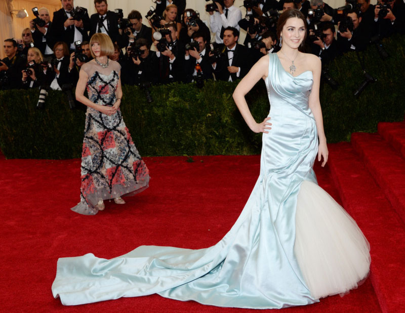 2014 Met Gala Red Carpet Bee Shaffer McQueen dress