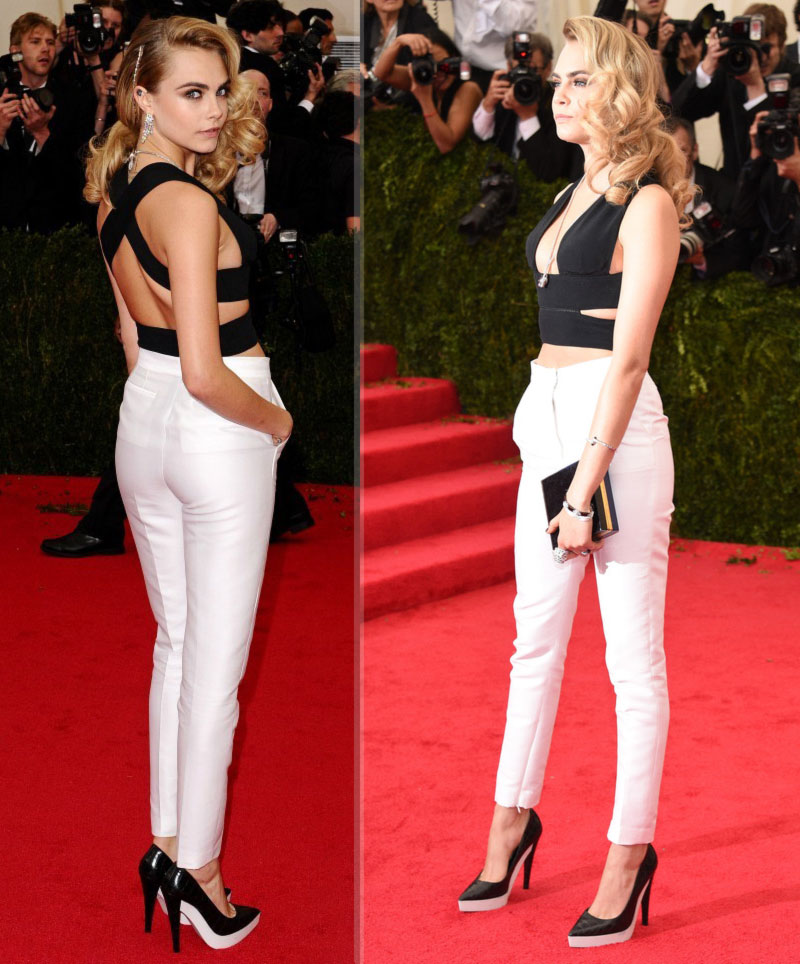 2014 Met Gala Red Carpet Cara Delevingne Stella McCartney