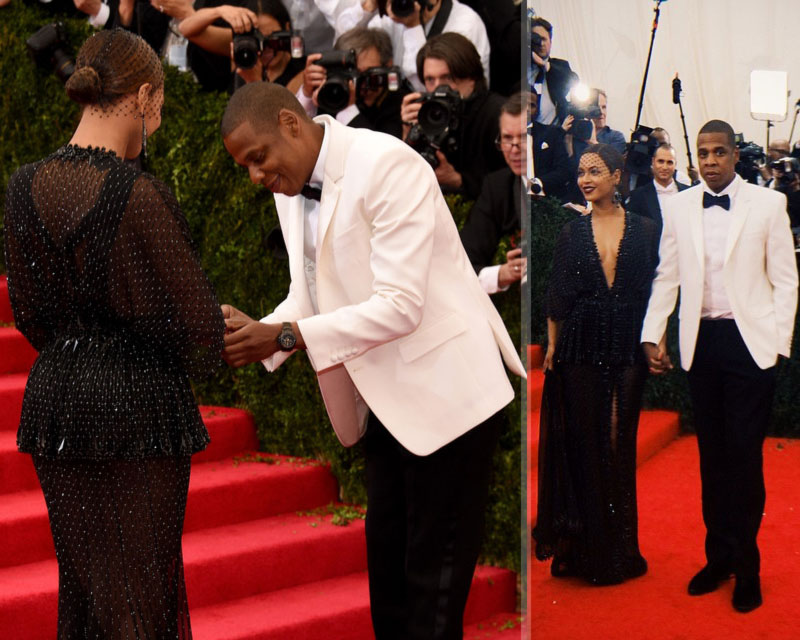 2014 Met Gala Red Carpet couples Beyonce Jay Z