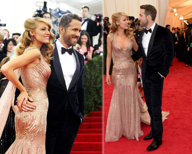 2014 Met Gala Red Carpet couples Blake Lively Ryan Reynolds