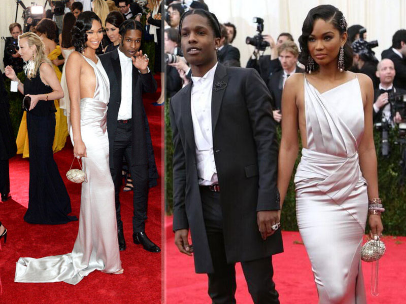 2014 Met Gala Red Carpet couples Chanel Iman Asap Rocky