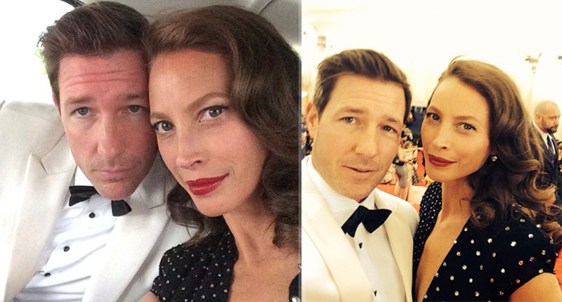 2014 Met Gala Red Carpet couples Christy Turlington Ed Burns