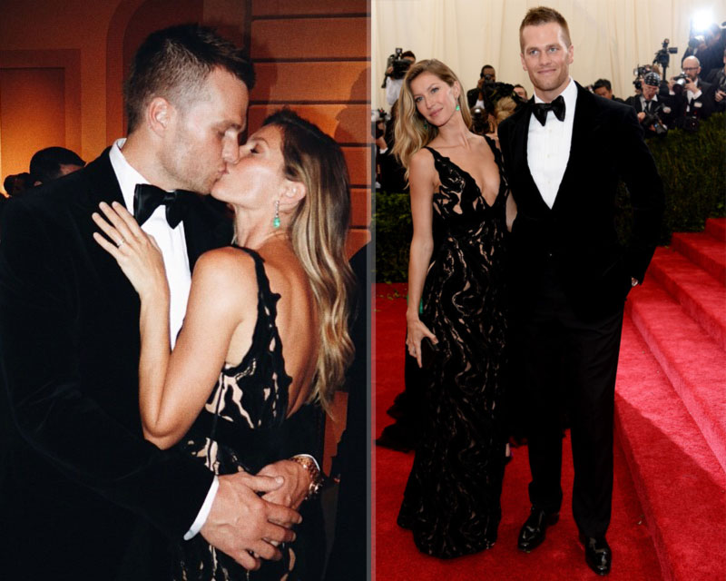 2014 Met Gala Red Carpet couples Gisele Bundchen Tom Brady