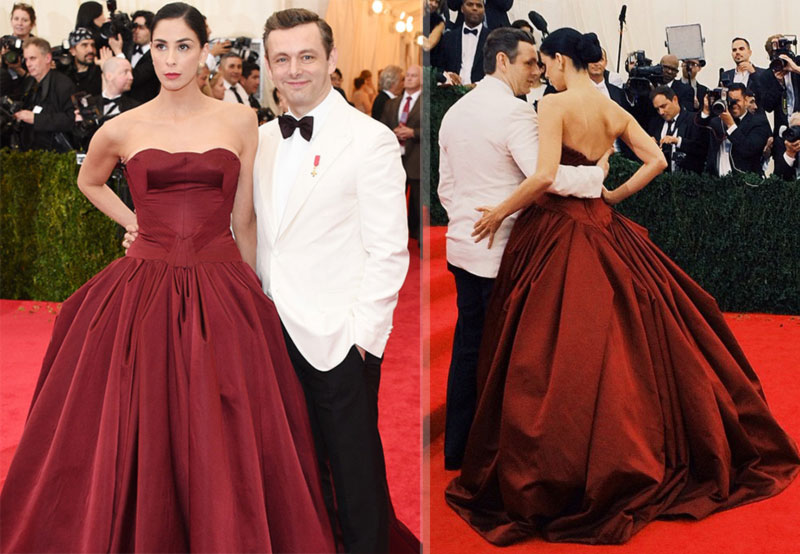 2014 Met Gala Red Carpet couples Sarah Silverman Michael Sheen