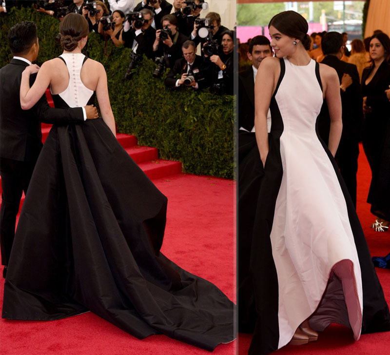 2014 Met Gala Red Carpet Hailee Seinfeld Prabal Gurung dress