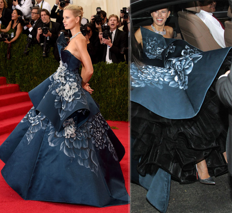 2014 Met Gala Red carpet Karolina Kurkova Marchesa dress