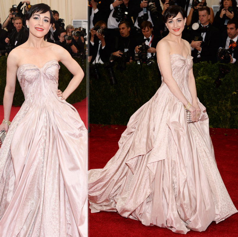 2014 Met Gala Red Carpet Lena Hall Zac Posen dress