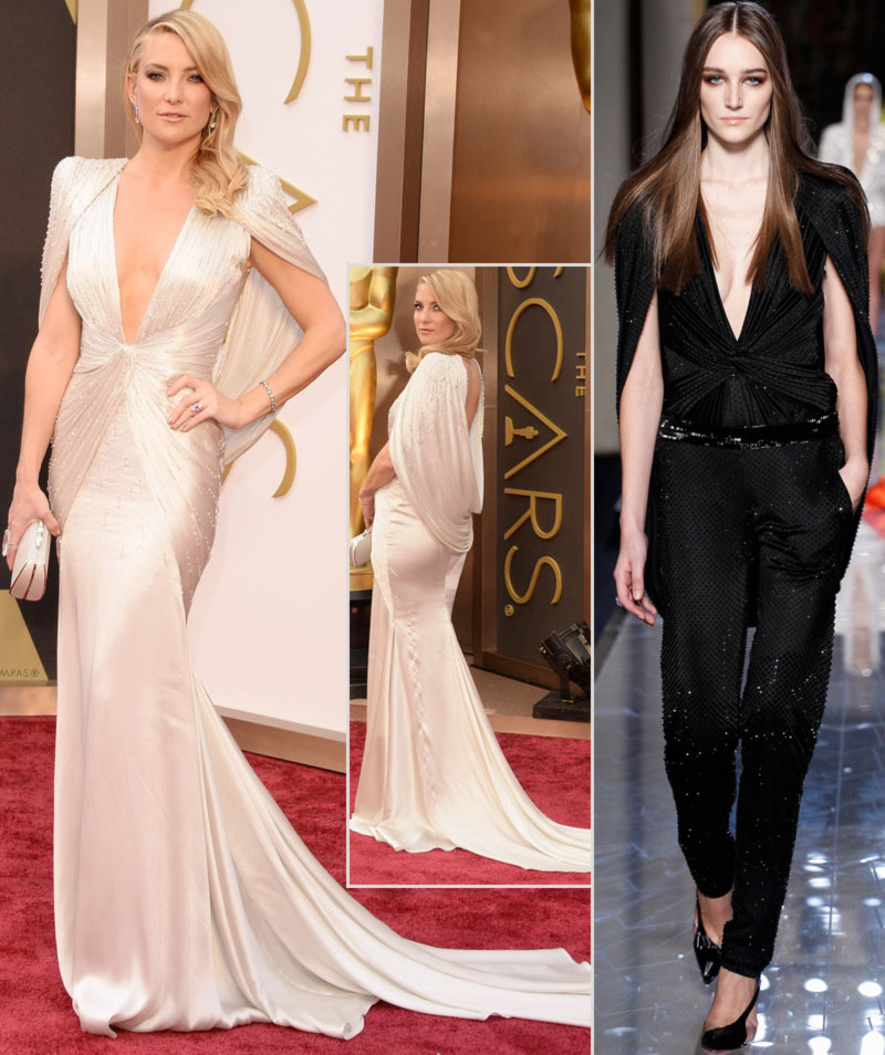 2014 Oscars fashion Kate Hudson cream Atelier Versace custom dress
