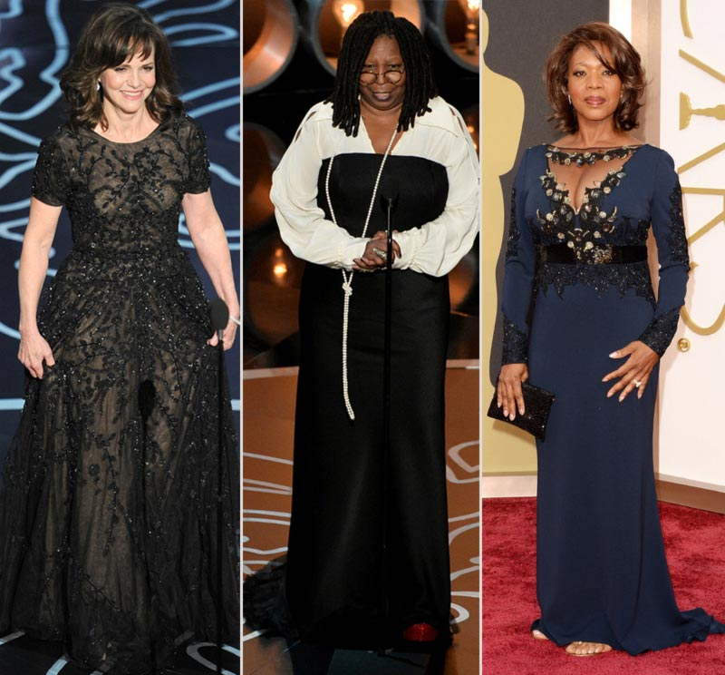 2014 Oscars Sally Field Whoopi Goldberg Alfre Woodard